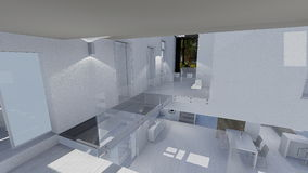 Home design. 3d design of modern home appartment indoor Royalty Free Stock Images