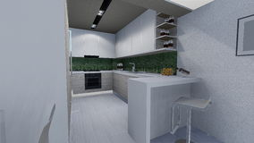 Home design. 3d design of modern home appartment indoor Stock Photo