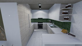 Home design. 3d design of modern home appartment indoor Stock Photography