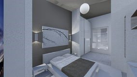 Home design. 3d design of modern home appartment indoor Stock Photos