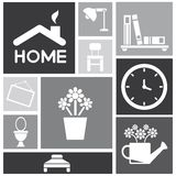 Home design, furniture set Stock Images