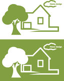 Home design. Icon for design royalty free stock photo