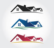 Home Design Icons Set , roof Vector set Stock Photography