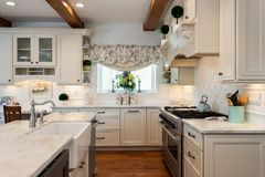 Home design remodel contemporary kitchen with two farmhouse sinks