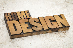 Home design in wood type Royalty Free Stock Photos
