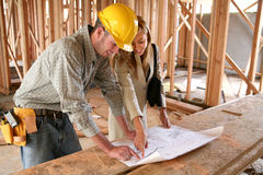 Home Designer with Home Builder Stock Image