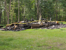 Home Destroyed by Fire Royalty Free Stock Image