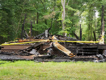 Home Destroyed by Fire Stock Images