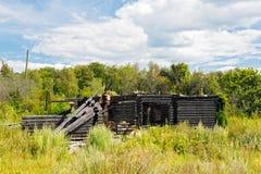 HOME destruída completamente Foto de Stock Royalty Free