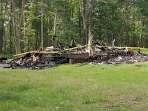 HOME destruída por Incêndio Imagem de Stock Royalty Free