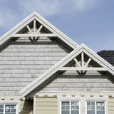 Home Detail. Roof peaks and end gable details Royalty Free Stock Photos