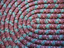HOME: detalhe coiled handmade do tapete de pano fotografia de stock royalty free