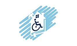 Home Disability Renovation. Logo Design Template Vector Royalty Free Stock Photos
