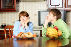 Home discussion Stock Photo