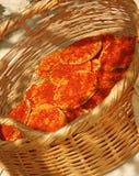 A HOME do Druze da tradição fêz o pão Fotos de Stock
