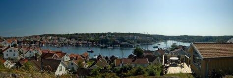 HOME do feriado no fjord. Imagem de Stock