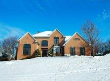 HOME do inverno Fotos de Stock