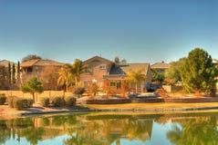 HOME do lago desert Imagem de Stock
