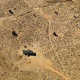 HOME do reboque no deserto. Imagens de Stock