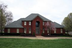 HOME do tijolo vermelho Fotografia de Stock Royalty Free
