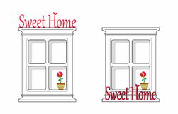 HOME doce Foto de Stock Royalty Free