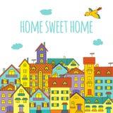 HOME doce Home Imagem de Stock Royalty Free