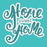 HOME doce Home Cartaz da tipografia da rotulação da mão Inscrição caligráfica, frase escrita à mão onceptual Fotos de Stock Royalty Free