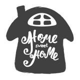 HOME doce Home Cartaz da tipografia da rotulação da mão Inscrição caligráfica, frase escrita à mão onceptual Foto de Stock