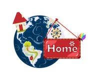 HOME doce Home - terra do planeta Imagens de Stock Royalty Free