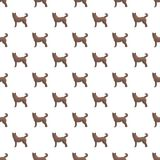 Home dog pattern seamless vector illustration