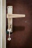 Home Door with Keys Stock Photo