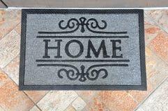 Home door mat Royalty Free Stock Photos