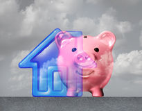 Home Down Payment. And house mortgage symbol as a family residence symbol merging with a piggy bank as a real estate financial metaphor with 3D illustration Vector Illustration