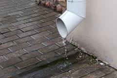 Home downspout Stock Photos