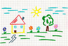 Home draw Royalty Free Stock Photo
