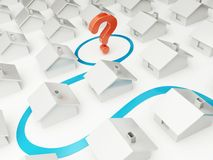 Home of dream question mark. On a white background Royalty Free Stock Photos