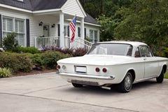 HOME e carro do vintage Imagem de Stock