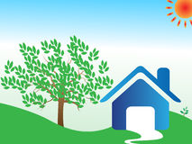 Home eco background. Illustration of home eco background Royalty Free Stock Image