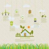 Home eco infographic Stock Photo