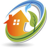Home Eco logo Stock Photo