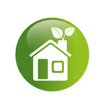 Home ecology green icon Stock Photo