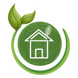 home ecology with leafs Royalty Free Stock Images