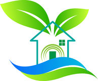 Home ecology. A vector drawing represents home ecology design royalty free illustration