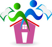 Home for education. A vector drawing represents home for education design Stock Image