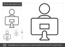 Home education line icon. Stock Photography