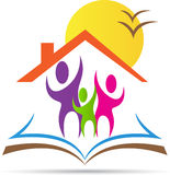 Home for education. A vector drawing represents home for education design stock illustration
