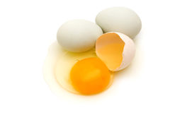 Home eggs from village Stock Photo