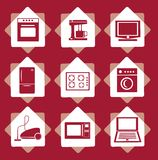 Home electrical appliances set Royalty Free Stock Photos