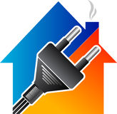 Home electrical plug royalty free illustration