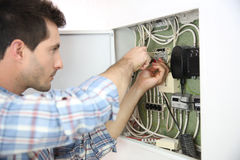 Home electrical problems for electrician Royalty Free Stock Photo